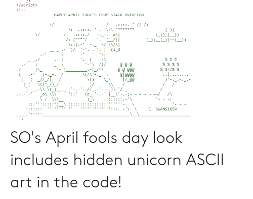 Script HAPPY APRIL FOOL'S FROM STACK OVERFLOW L L -1 SO's April