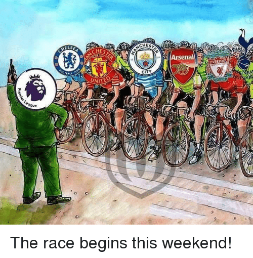 Arsenal, Memes, and Race: SEA  CHES  Arsenal  CITY The race begins this weekend!