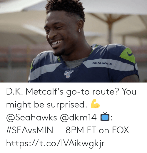 Memes, Nfl, and Seahawks: SEAHAWIS  NFL D.K. Metcalf's go-to route?  You might be surprised. 💪 @Seahawks @dkm14  📺: #SEAvsMIN — 8PM ET on FOX https://t.co/IVAikwgkjr