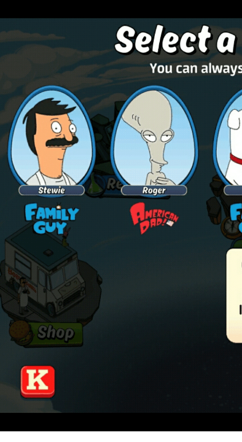 Select A You Can Always C Stewie Roger Family Guy Meric Shop