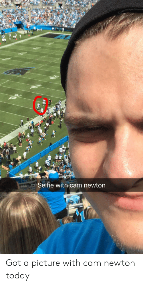 Cam Newton: Selfie with cam newton Got a picture with cam newton today