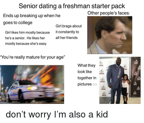 freshman and senior dating