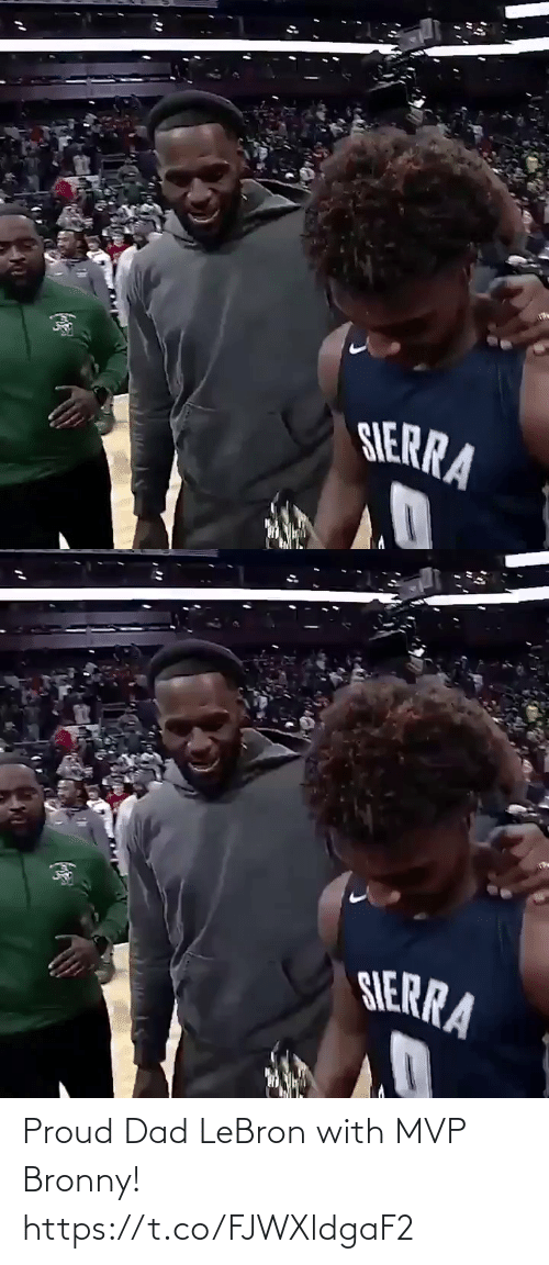 sierra: SERRA   SIERRA Proud Dad LeBron with MVP Bronny! https://t.co/FJWXldgaF2