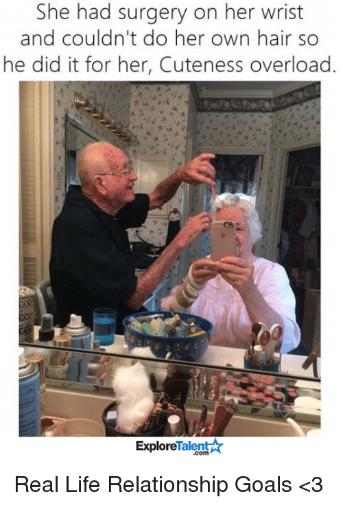 talent explore: She had surgery on her wrist  and couldn't do her own hair so  he did it for her, Cuteness overload.  Talent  Explore Real Life Relationship Goals <3