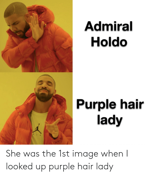 lady: She was the 1st image when I looked up purple hair lady