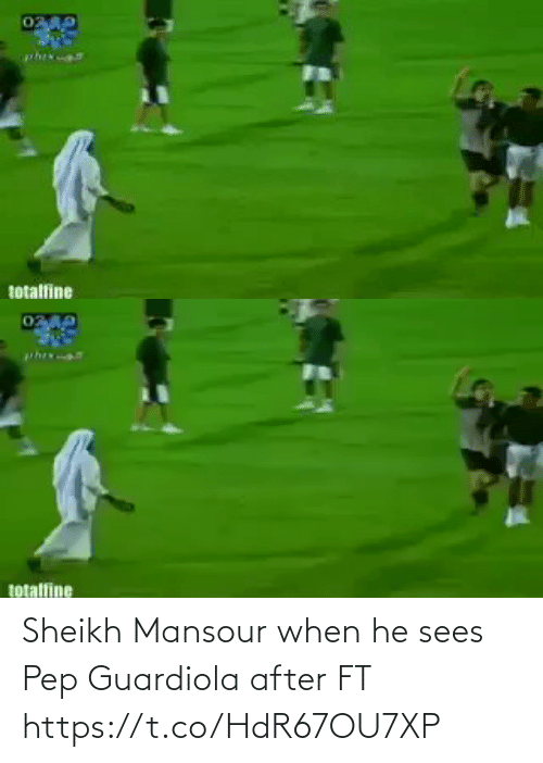 pep guardiola: Sheikh Mansour when he sees Pep Guardiola after FT  https://t.co/HdR67OU7XP