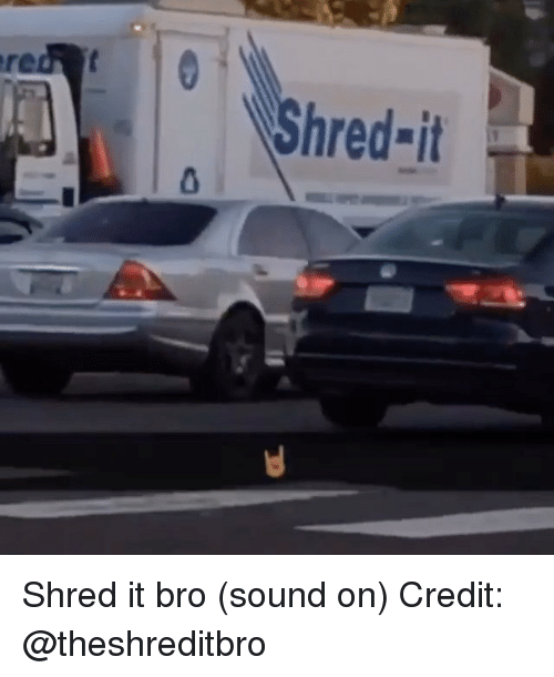 Memes, 🤖, and Sound: Shred-it Shred it bro (sound on) Credit: @theshreditbro