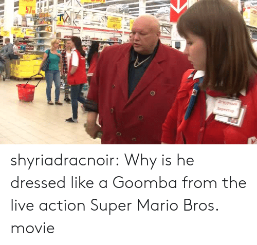 Super Mario, Super Mario Bros, and Tumblr: shyriadracnoir:  Why is he dressed like a Goomba from the live action Super Mario Bros. movie