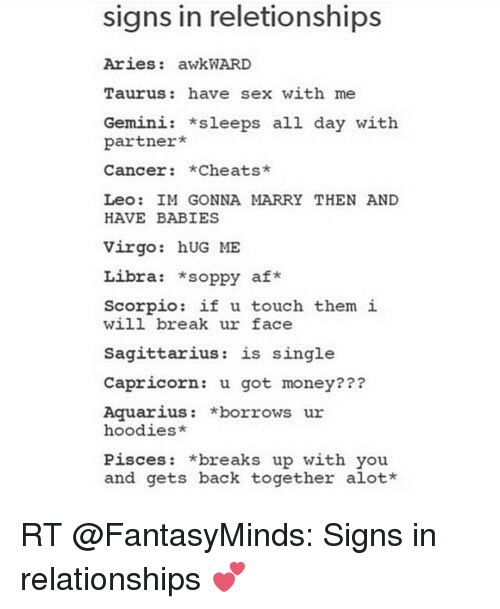 Sex with a cancer and taurus
