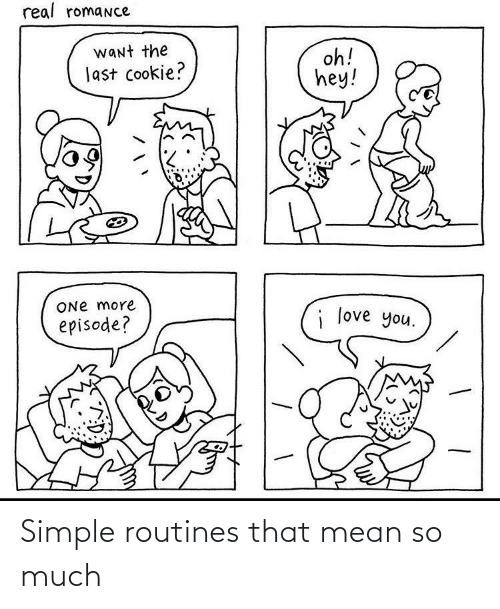 simple: Simple routines that mean so much