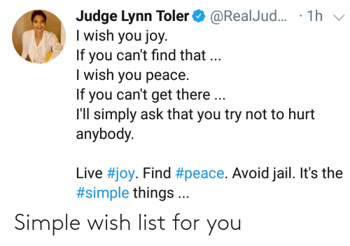 For You: Simple wish list for you