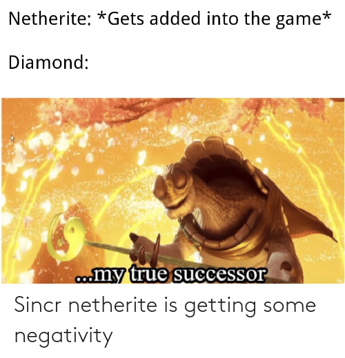 Negativity: Sincr netherite is getting some negativity