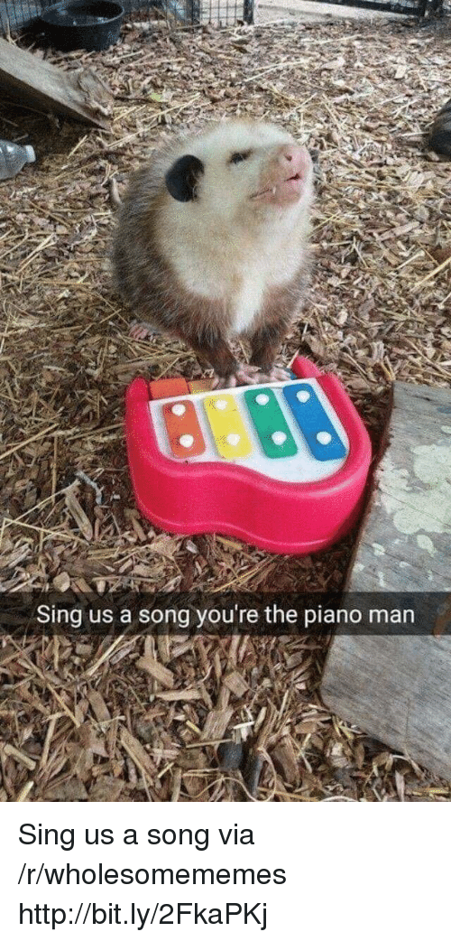 Http, Piano, and A Song: Sing us a song you're the piano man Sing us a song via /r/wholesomememes http://bit.ly/2FkaPKj