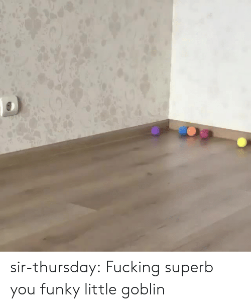 Fucking, Target, and Tumblr: sir-thursday: Fucking superb you funky little goblin