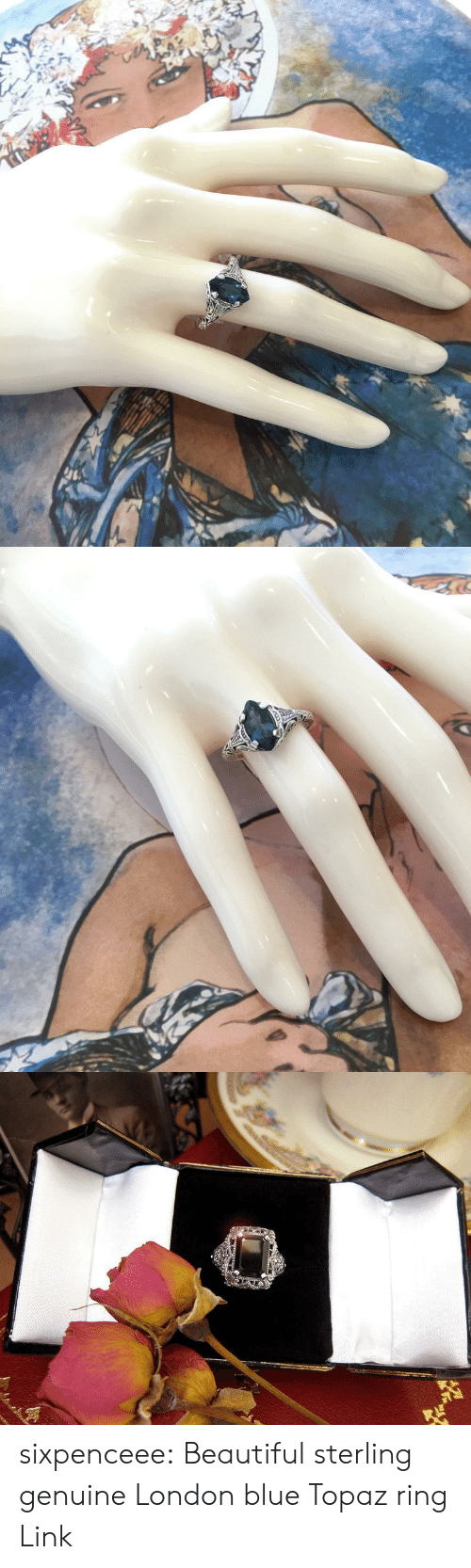 Beautiful, Target, and Tumblr: sixpenceee:  Beautiful sterling genuine London blue Topaz ring Link