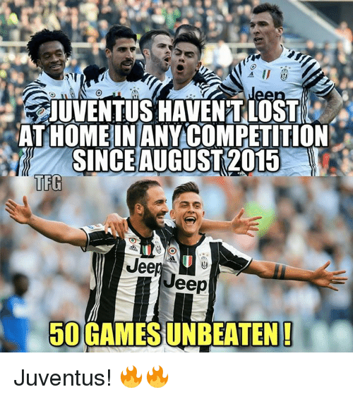 Jees: SJUVENTUS HAVENT LOST  AT HOME IN ANY COMPETITION  SINCE AUGUST2015  TEG  Jee  eep  50 GAMESUNBEATEN! Juventus! 🔥🔥
