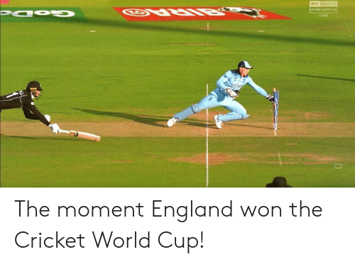 England, Memes, and Sports: sky sports  cricket world cup  Papu  LIVE The moment England won the Cricket World Cup!