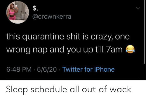 Sleep: Sleep schedule all out of wack
