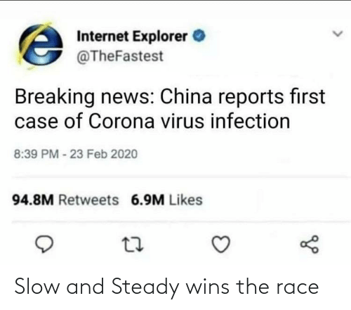 wins: Slow and Steady wins the race