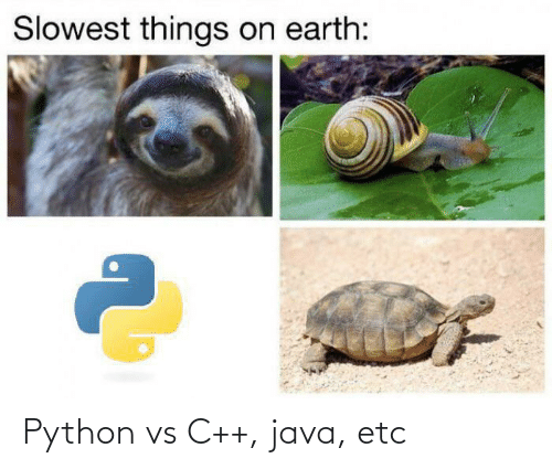 Java: Slowest things on earth: Python vs C++, java, etc