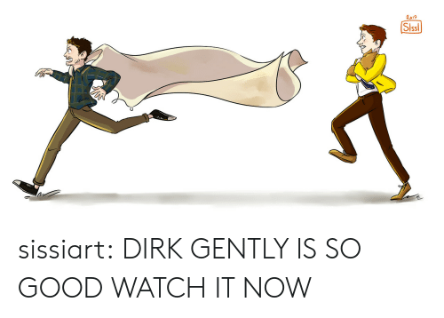 Target, Tumblr, and Blog: Slssl sissiart:  DIRK GENTLY IS SO GOOD WATCH IT NOW