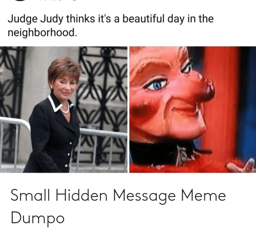 message: Small Hidden Message Meme Dumpo