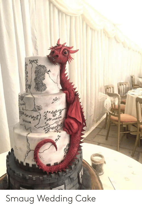 Cake: Smaug Wedding Cake