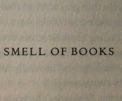 Books and Smell: SMELL OF BOOKS