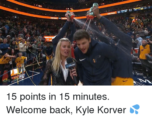 Kyle Korver, Back, and Smi: Smi  s Smitt 15 points in 15 minutes. Welcome back, Kyle Korver 💦