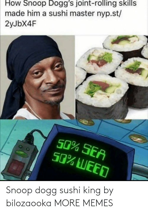 snoop dogg: Snoop dogg sushi king by bilozaooka MORE MEMES