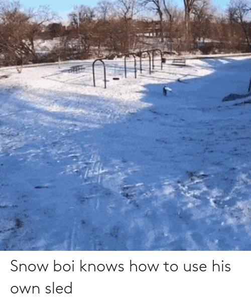 Knows How To: Snow boi knows how to use his own sled
