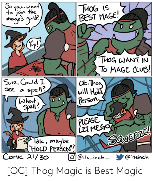 """Club, Best, and Magic: So  7ou.. want  to join the  THОG 15  BEST MAGE!  mogye's g?  Kep!)  THOG WANT IN  To MAGE CLUB!  