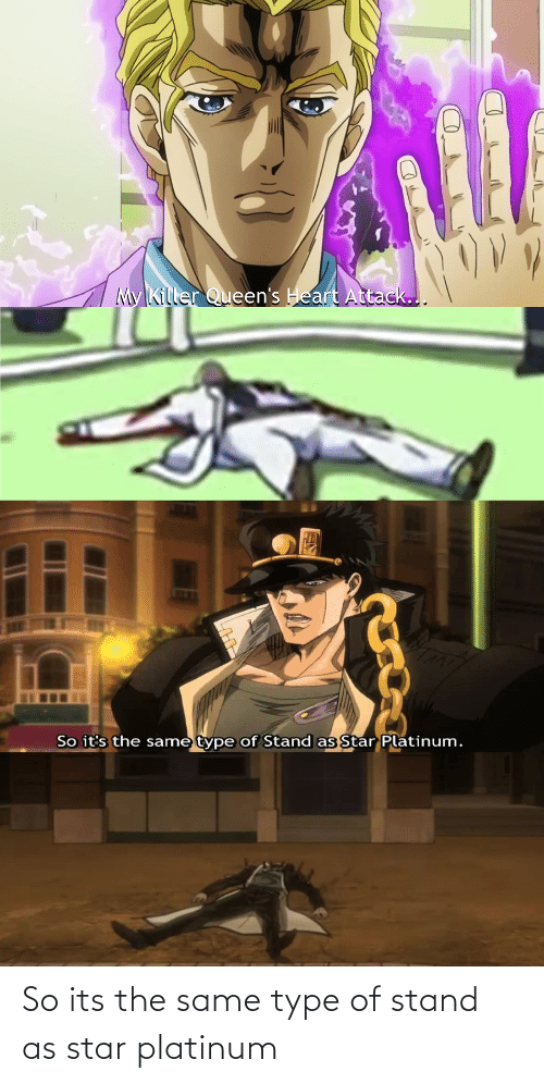 type: So its the same type of stand as star platinum