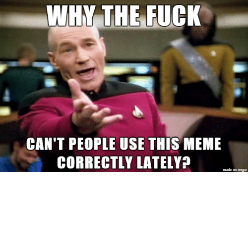Posts: So many years of posts explaining how these memes all work…