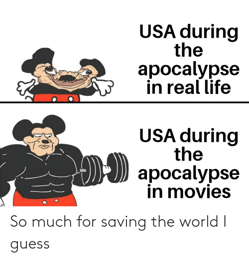Saving: So much for saving the world I guess