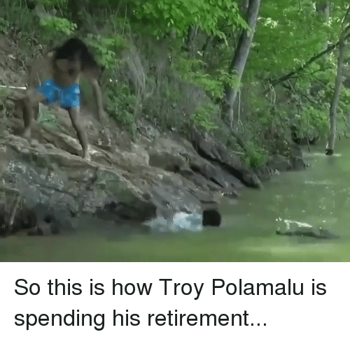 Nfl, How, and Troy: So this is how Troy Polamalu is spending his retirement...