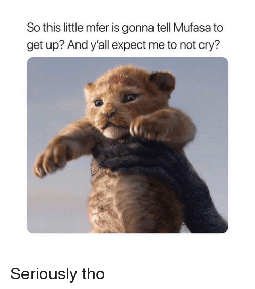 Mufasa, Classical Art, and Cry: So this little mfer is gonna tell Mufasa to  get up? And y'all expect me to not cry? Seriously tho