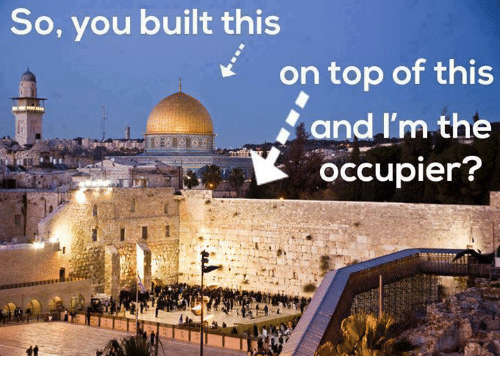 Memes, 🤖, and Top: So, you built this  on top of this  and I'm the  occupier?