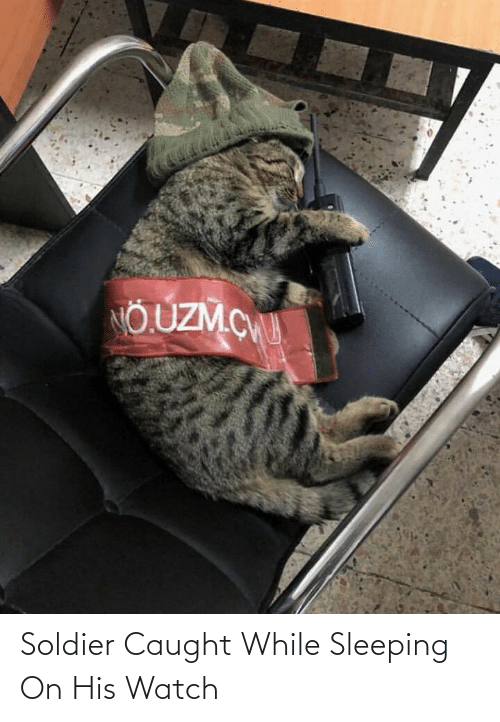 Sleeping: Soldier Caught While Sleeping On His Watch