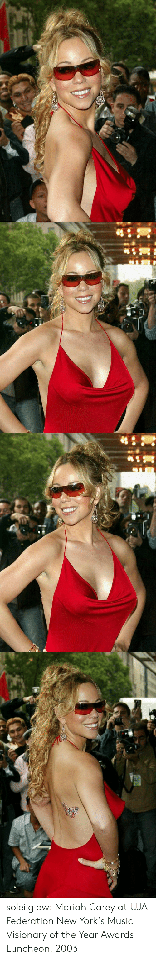 Mariah Carey, Music, and New York: soleilglow: Mariah Carey at UJA Federation New York's Music Visionary of the Year Awards Luncheon, 2003