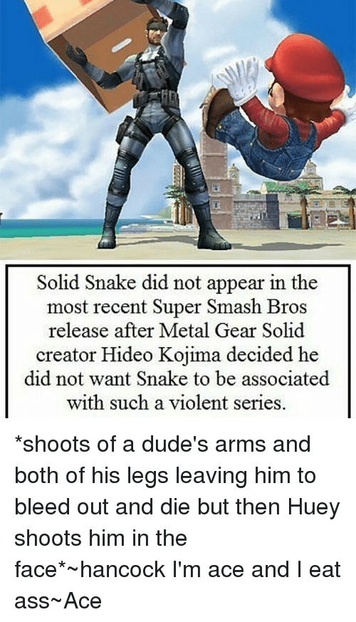 Solid Snake Did Not Appear In The Most Recent Super Smash