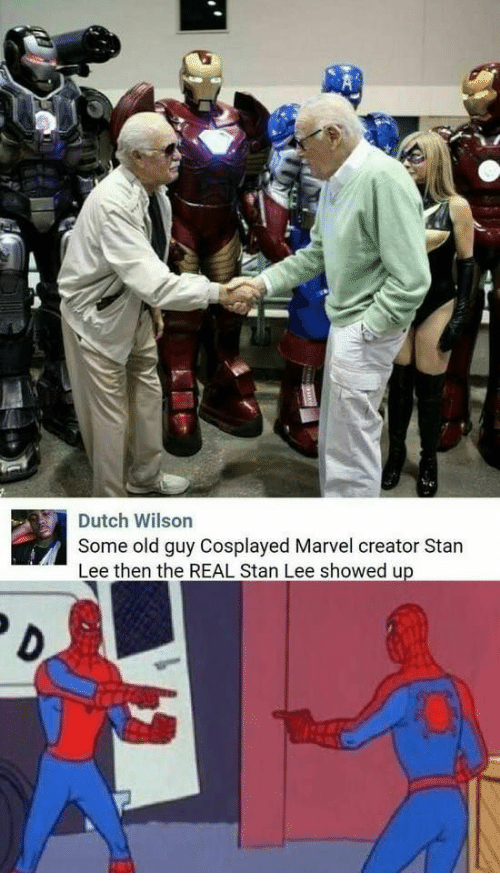 Stan, Stan Lee, and Marvel: Some old guy Cosplayed Marvel creator Stan  Lee then the REAL Stan Lee showed up  Dutch Wilson  D.