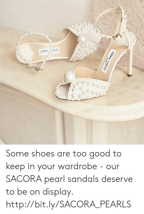 Sandals: Some shoes are too good to keep in your wardrobe - our SACORA pearl sandals deserve to be on display. http://bit.ly/SACORA_PEARLS