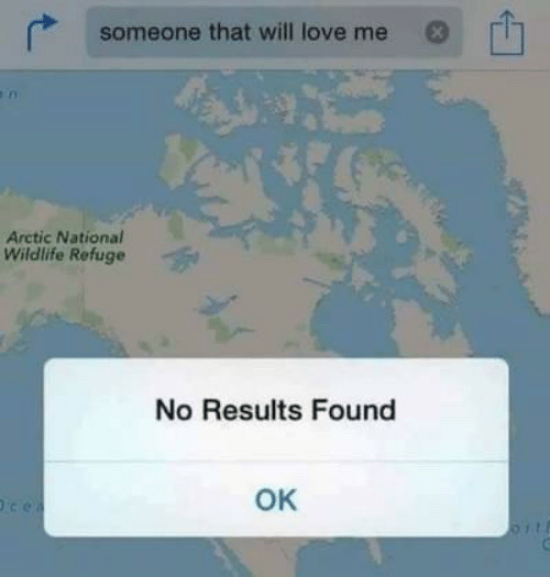Love, Will, and Arctic: someone that will love me  Arctic National  Wildlife Refuge  No Results Found  OK