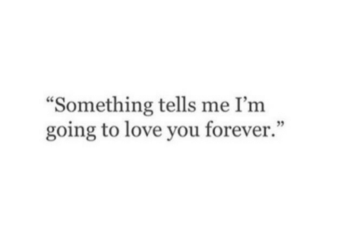 """Love, Forever, and You: """"Something tells me I'm  going to love you forever.""""  05"""