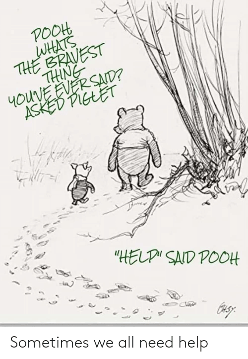 Help: Sometimes we all need help