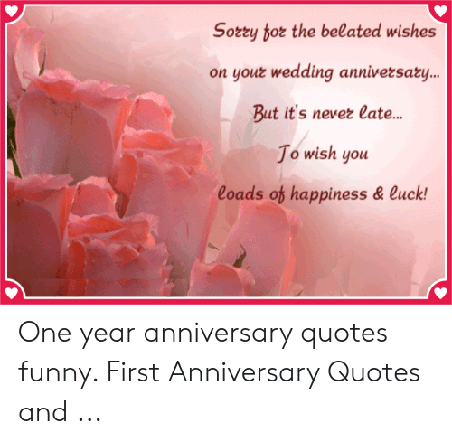 One year anniversary quotes funny
