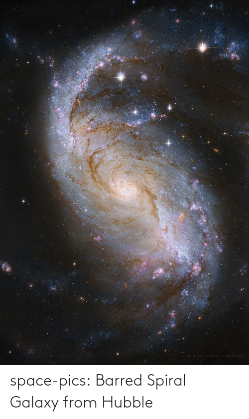 barred: space-pics:  Barred Spiral Galaxy from Hubble
