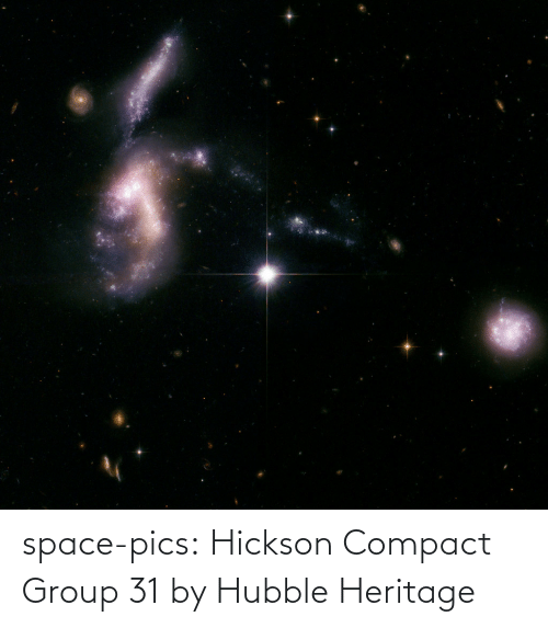 pics: space-pics:  Hickson Compact Group 31 by Hubble Heritage