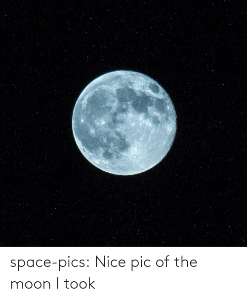 pic: space-pics:  Nice pic of the moon I took